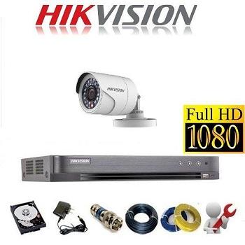 trọn bộ 1 camera tầm trung hikvision 2mp