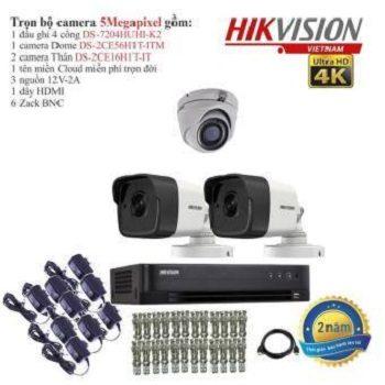 trọn bộ 3 camera cao cấp hikvision 5mp