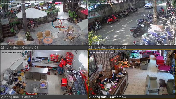 Lắp đặt camera cho quán cà phê